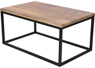 Rechteckiger Couchtisch, Mangoholz 100 x 60 x 48 cm - Home Styling Collection