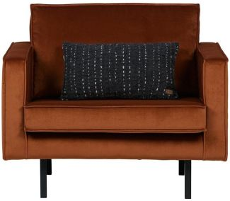 BePureHome Rodeo Sessel Samt Rost