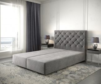Boxspringgestell Dream-Great 160x200 Mikrofaser Taupe