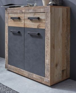 Sideboard Kommode Tailor | Matera grau / Shabby Old Used Wood | 83x86 cm