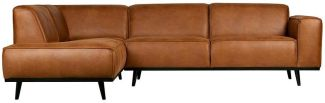 BEPUREHOME Statement Eckcouch Links Eco Leder Cognac 378652-09