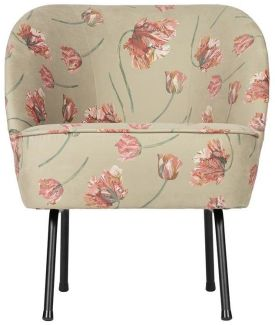 BePureHome Vogue Sessel Rococo Agave Samt