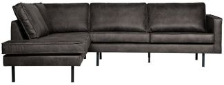 BEPUREHOME Rodeo Eckcouch Links Schwarz 800972-Z