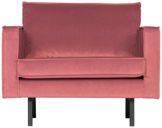 BEPUREHOME Rodeo Sessel Samt Pink