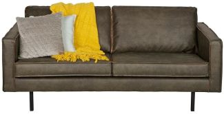 BEPUREHOME Rodeo Sofa Lederlook Army 2,5 Sitzer 378609-A