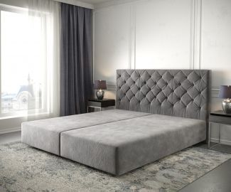 Boxspringgestell Dream-Great 180x200 Mikrofaser Taupe