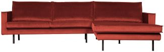 BePureHome Rodeo Sofa Chaise Longue Rechts Samt Kastanie