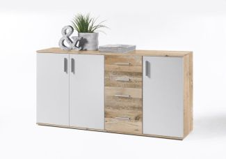 Sideboard 'CHARLY' Old Style hell /Weiß