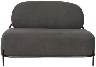 WHITE LABEL LIVING Polly Lounge Sofa Retro Look in Grau