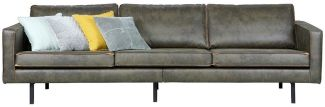 BEPUREHOME Rodeo Sofa Lederlook Army 3 Sitzer 378618-A