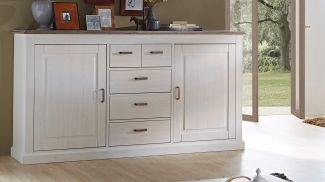 Sideboard 'LIMAS' in Pinie hell und Taupe