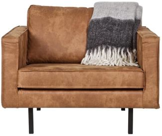 BePureHome Rodeo Sessel Lederlook Cognac