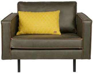 BePureHome Rodeo Sessel Lederlook Army