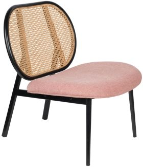 Lounge Chair - Spike - Natur/Rosa