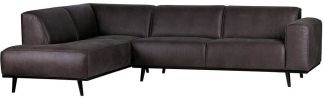 BEPUREHOME Statement Eckcouch Links Lederlook Grau 378652-02