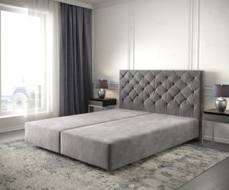Boxspringgestell Dream-Great 140x200 Mikrofaser Taupe