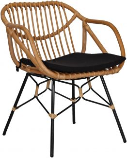 Rattan Clubsessel Retro Style