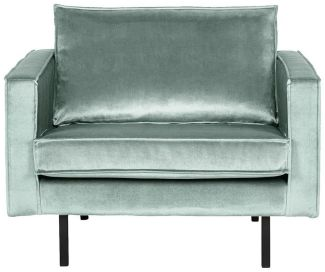 BEPUREHOME Rodeo Sessel Samt Mint