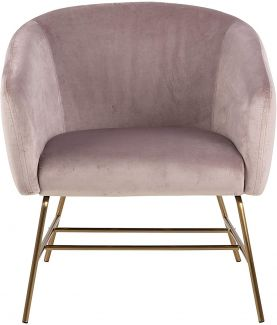 Loungesessel RAMSEY, dusty rose