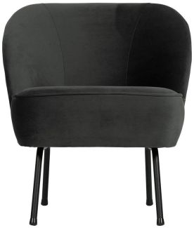 BePureHome Vogue Sessel Samt Schwarz
