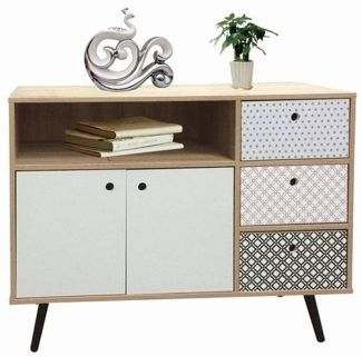 MAILBOX Sideboard MDF White Wash