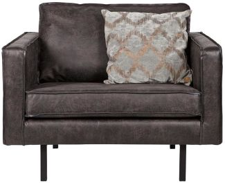 BEPUREHOME Rodeo Sessel Lederlook Schwarz